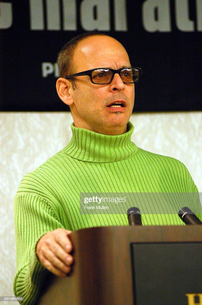 Wayne Kramer during CMJ Music Marathon 2003, Day 3 - Wayne Kramer Gives Keynote Speech at Hilton Hotel in New York, New York, United States.