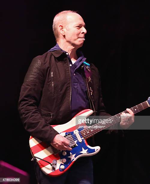 Wayne Kramer guitarist for MC5 performs onstage at the US Postal Service unveiling of the Jimi Hendrix Forever® Stamp during South by Southwest on...
