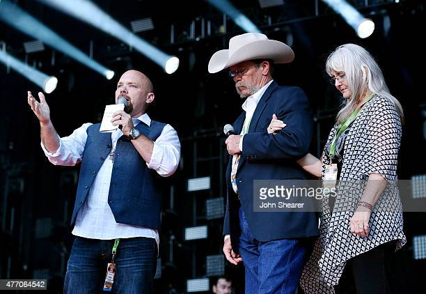Wayne Kyle and Deby Kyle parents of United States Navy SEAL sniper Chris Kyle speak onstage during the 2015 CMA Festival on June 13 2015 in Nashville...