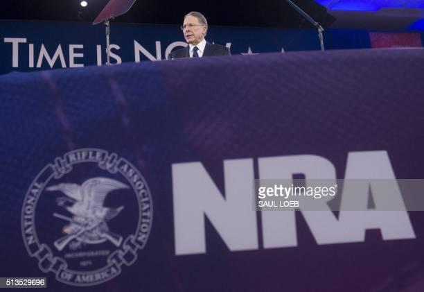 Wayne LaPierre Executive Vice President of the National Rifle Association speaks during the annual Conservative Political Action Conference 2016 at...