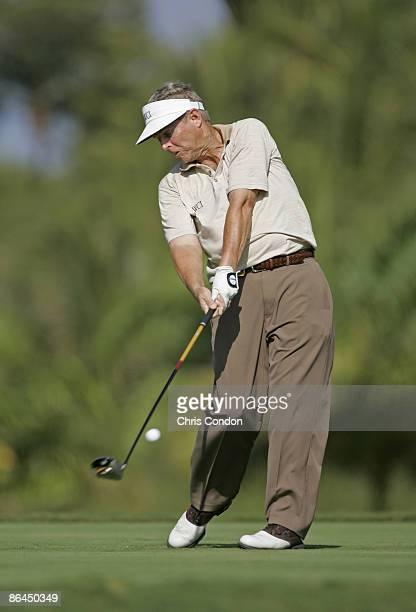 Wayne Levi tees off on during the Thursday ProAm at the 2006 Mastercard Championship at Hualalai resort Kona Hawaii