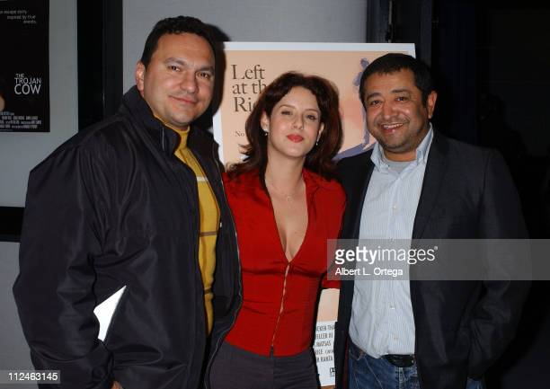 Wayne Lopez Yeni Alvarez and Alejandro Patino during AFI Screening of Left at the Rio Grande March 7 2006 at Harmony Gold Theater in Hollywood...