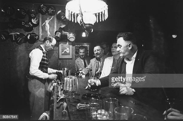 Wayne Mackin as bartender at Cripple Creek theater in the Imperial Hotel