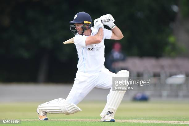 Wayne Madsen of Derbyshire batting during the Specsavers County Championship Division Two match between Derbyshire and Durham at Queen's Park on July...