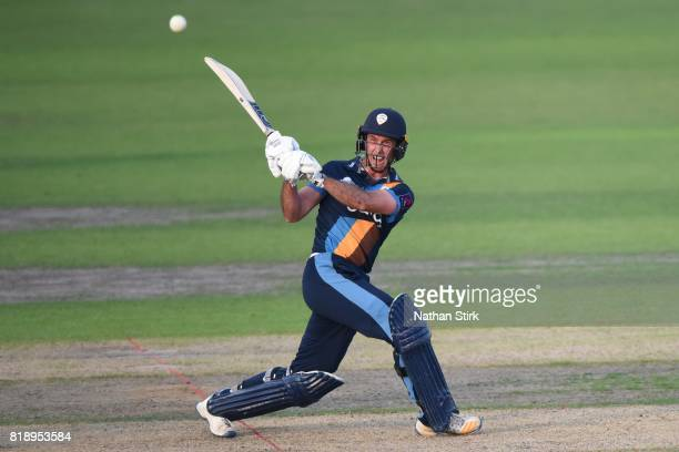 Wayne Madsen of Derbyshire Falcons batting during the NatWest T20 Blast match between Worcestershire Rapids and Derbyshire Falcons at New Road on...