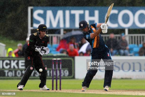 Wayne Madsen of Derbyshire Falcons in action during the Natwest T20 Blast match between Derbyshire Falcons and Leicestershire Foxes at The 3aaa...