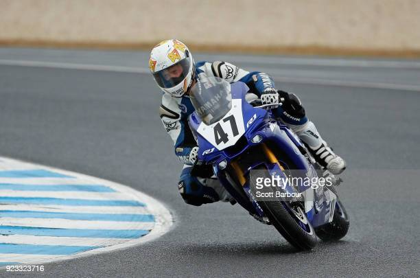Wayne Maxwell of Australia and Yamaha Racing Team rides in the FIM Superbike World Championship Free Practice session ahead of the 2018 Superbikes at...