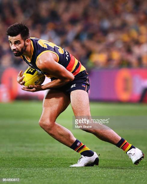 Wayne Milera of the Adelaide Crows during the round seven AFL match between the Adelaide Crows and the Carlton Blues at Adelaide Oval on May 5, 2018...