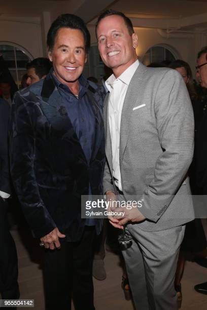 Wayne Newton and Ambassador Richard Grenell attend Ambassador Grenell Goodbye Bash on May 6 2018 in New York City