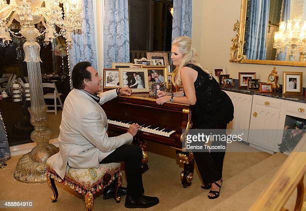 Wayne Newton and his wife Kathleen McCrone Newton attend the VIP opening of Casa De Shenandoah on September 17 2015 in Las Vegas Nevada