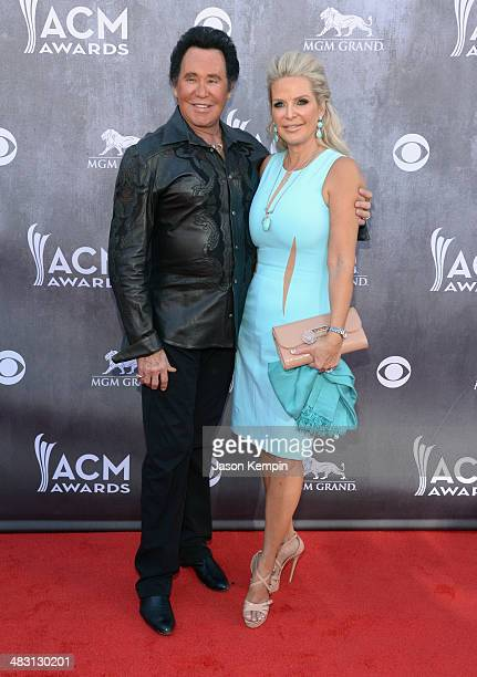 Wayne Newton and Kathleen McCrone attend the 49th Annual Academy Of Country Music Awards at the MGM Grand Garden Arena on April 6 2014 in Las Vegas...