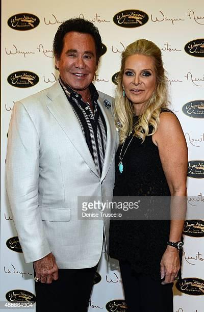 Wayne Newton and Kathleen McCrone Newton attend the VIP opening of Casa De Shenandoah on September 17 2015 in Las Vegas Nevada