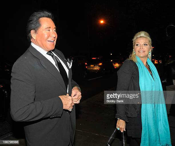 Wayne Newton and Kathleen McCrone Newton filming on location for Celebrity Apprentice All Stars on November 12 2012 in New York City