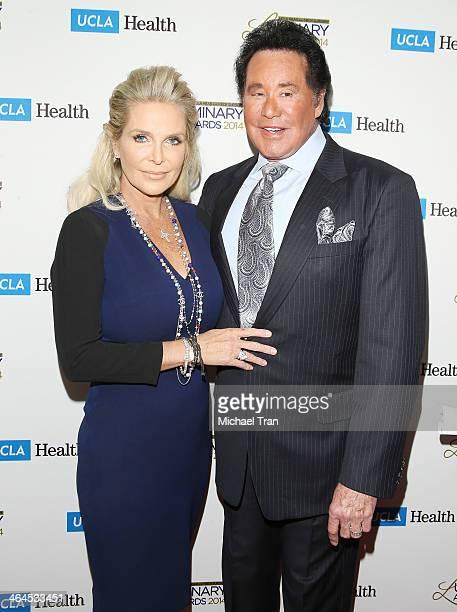 Wayne Newton and wife Kathleen McCrone arrive at the UCLA Head Neck Surgery Luminary Awards held at Regent Beverly Wilshire Hotel on January 22 2014...