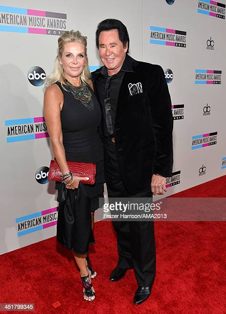 Wayne Newton and wife Kathleen McCrone attends 2013 American Music Awards at Nokia Theatre LA Live on November 24 2013 in Los Angeles California