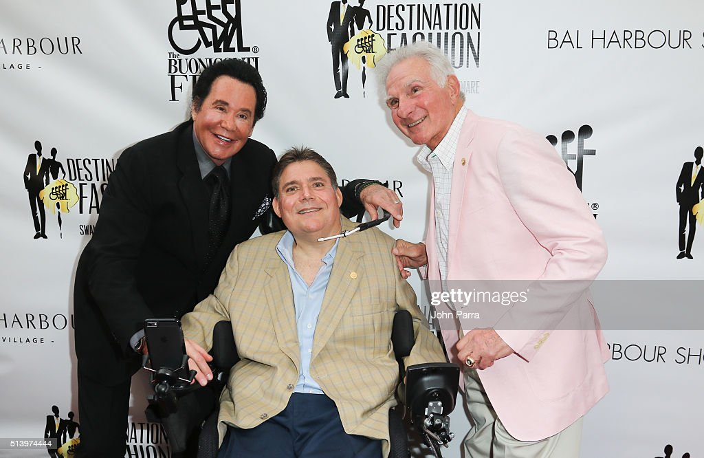 Wayne Newton,Marc A. Buoniconti and Nick Buoniconti attend Destination Fashion 2016 to benefit The Buoniconti Fund to Cure Paralysis, the fundraising arm of The Miami Project to Cure Paralysis at Bal Harbour Shops on March 5, 2016 in Miami, Florida.