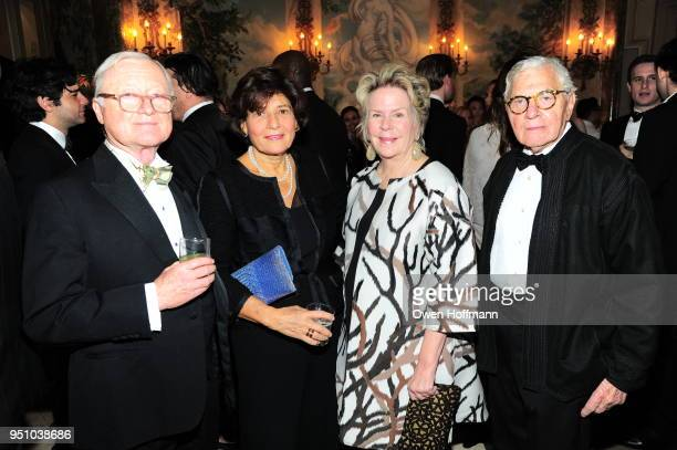 Wayne Nordberg Michele Ateyeh Bunny Williams and John Roselli attends The Hort's New York Flower Show Dinner Dance at The Pierre Hotel on April 24...