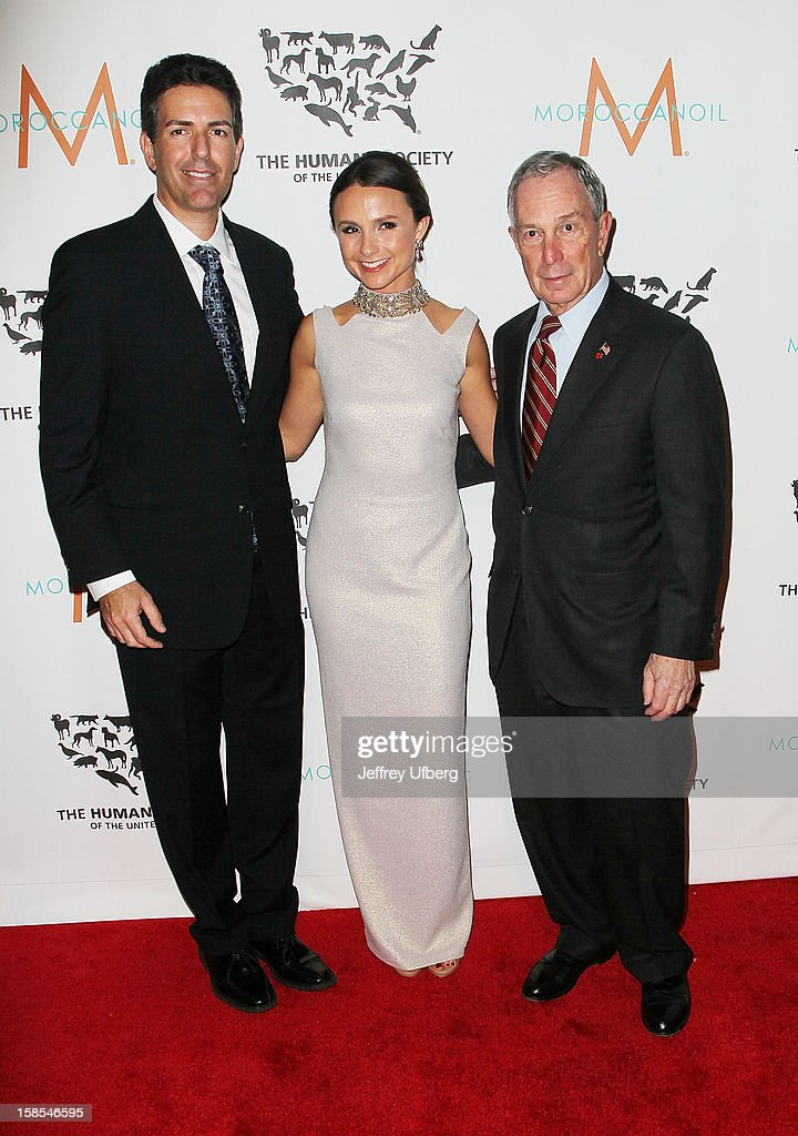 Wayne Pacelle, Georgina Bloomberg and Mayor Michael Bloomberg attend The Humane Society of the United States presents To The Rescue! gala benefiting post hurricane Sandy efforts at Cipriani 42nd Street on December 18, 2012 in New York City.