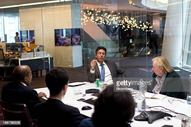 Wayne Pacelle president and chief executive officer of Humane Society of the US center speaks during a meeting with Bloomberg's Muse arts and culture...