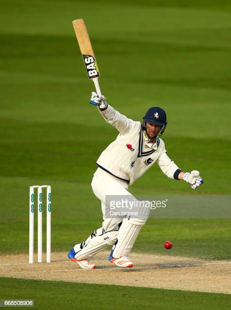 Wayne Parnell of Kent bats during day one of the Specsavers County Championship Division Two match between Sussex and Kent at The 1st Central County...