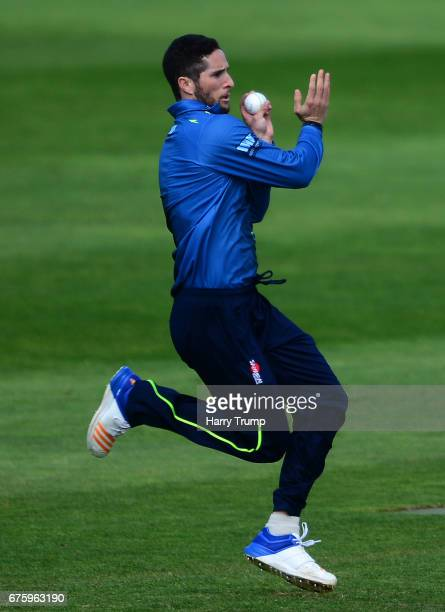 Wayne Parnell of Kent during the Royal London OneDay Cup match between Somerset and Kent at The Cooper Associates County Ground on May 2 2017 in...