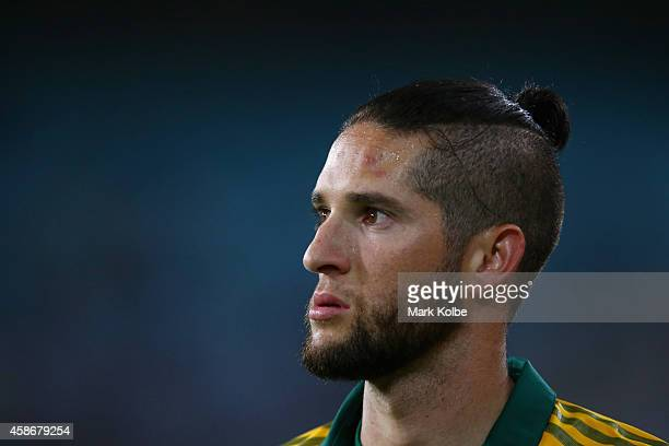 Wayne Parnell of South Africa watches on during game three of the Men's International Twenty20 series between Australia and South Africa at ANZ...