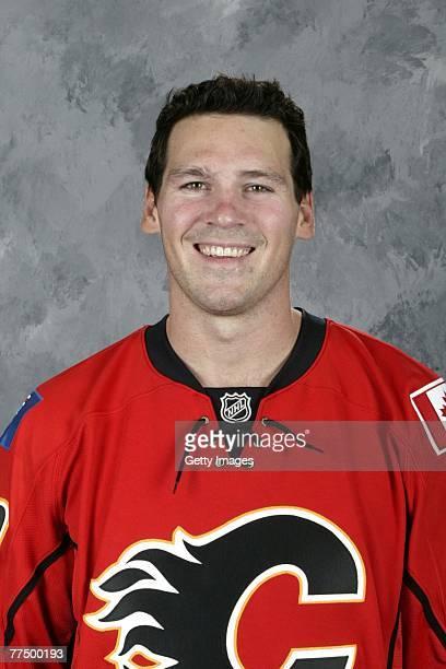 Wayne Primeau of the Calgary Flames poses for his 2007 NHL headshot at photo day in Calgary Alberta Canada