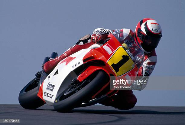 Wayne Rainey of the USA riding a Yamaha circa 1988