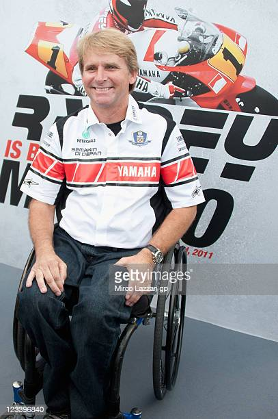 Wayne Rainey of USA and Yamaha Factory Team poses during the event Rainey is back in Misano of Yamaha Factory Team during the free practice of MotoGP...
