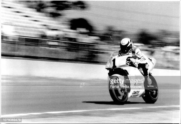 Wayne Rainey ***** position in yesterday's practice for today's grand prix April 5 1991