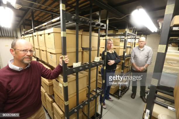 TORONTO ON DECEMBER 13 Wayne Reeves who is the Chief Curator Alex Avdichuk the Supervisor of Collections and Conservation and Historian Richard...