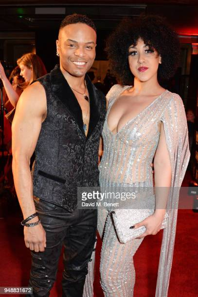 Wayne Robinson and Danielle Steers attend the Gala Night after party for 'Bat Out Of Hell The Musical' at the Bloomsbury Ballroom on April 19 2018 in...