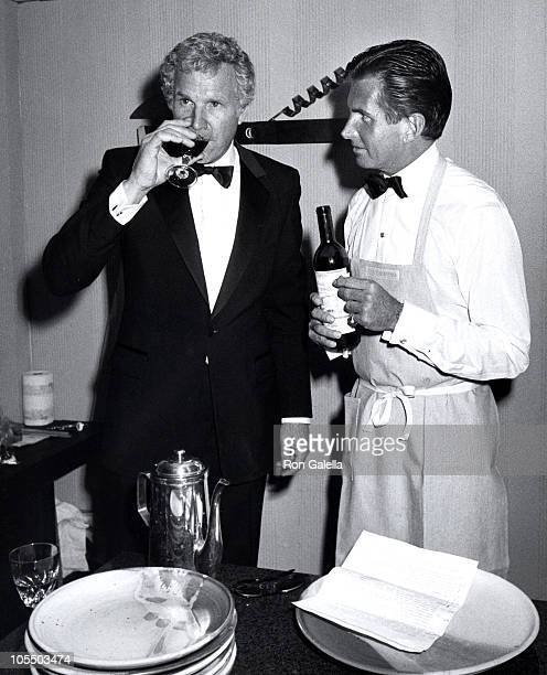 Wayne Rogers and George Hamilton during March of Dimes Gourmet Gala at Sheraton Premiere Hotel in Los Angeles, California, United States.