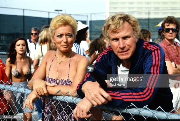 Wayne Rogers stands with Mary Elizabeth 'Betsy' Maxwell Cronkite attending the 11th Annual Alan King ProCelebrity Tennis Classic Party' on April 23...