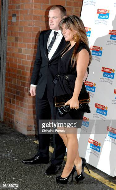 Wayne Rooney and Coleen Rooney attend the Manchester United annual gala dinner United For UNICEF at Old Trafford on November 29 2009 in Manchester...