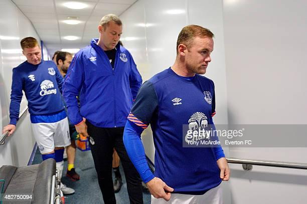 Wayne Rooney and Duncan Ferguson before Duncan Ferguson's preseason testimonial match between Everton and Villarreal at Goodison Park on August 2...