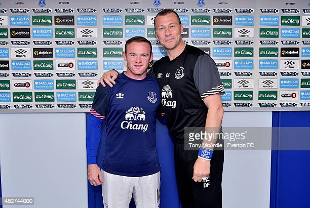Wayne Rooney and Duncan Ferguson before the preseason match between Everton and Villarreal Duncan Ferguson's Testimonial at Goodison Park on August 2...