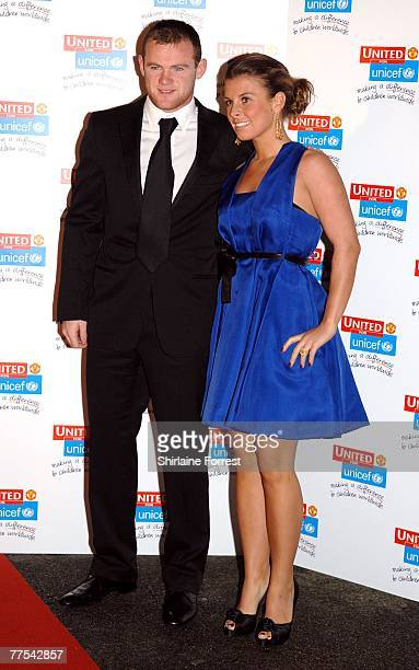 Wayne Rooney and fiancee Coleen Mcloughlin arrive for the Manchester United `United for UNICEF' Gala Dinner at Manchester United Football Club...