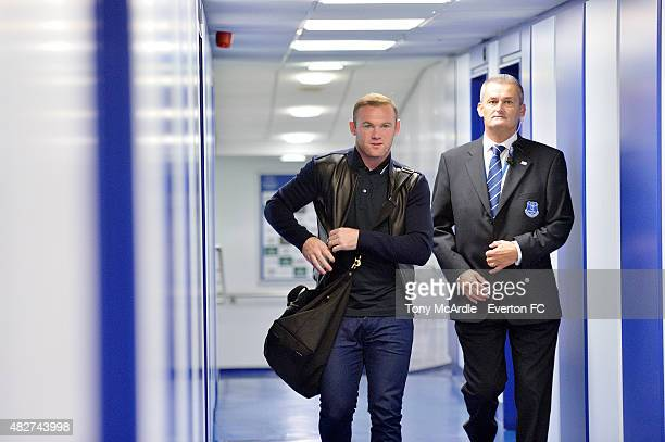 Wayne Rooney arriving at Goodison Park during the preseason match between Everton and Villarreal Duncan Ferguson's Testimonial at Goodison Park on...