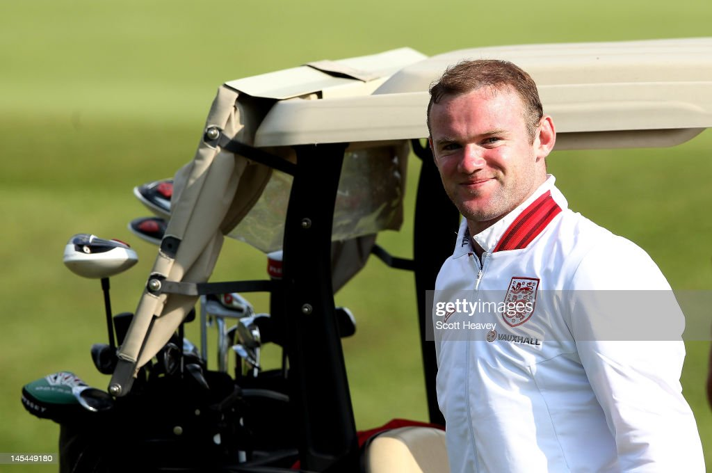 Wayne Rooney during a Vauxhall Golf Day for the England Football team at The Grove Hotel on May 30, 2012 in Hertford, England.