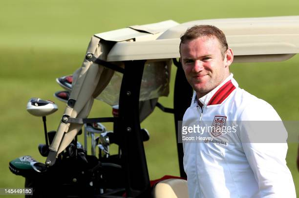 Wayne Rooney during a Vauxhall Golf Day for the England Football team at The Grove Hotel on May 30 2012 in Hertford England