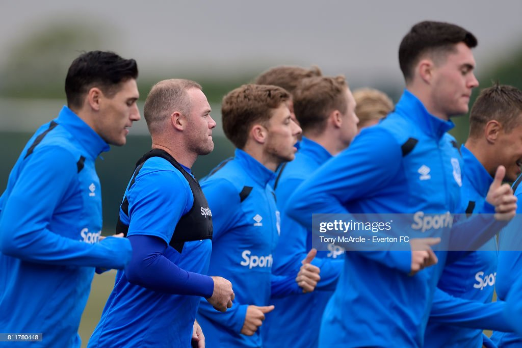 Wayne Rooney during the Everton training session at USM Finch Farm on July 10, 2017 in Halewood, England.