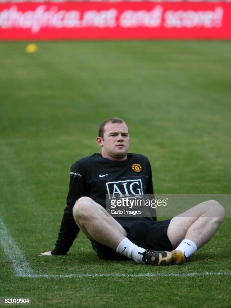 Wayne Rooney during the Manchester United training session held at Absa Stadium on July 21 2008 in Durban South Africa