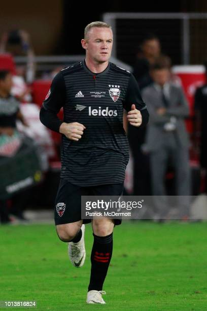 Wayne Rooney of DC United enters the game in the second half against the Vancouver Whitecaps during his MLS debut at Audi Field on July 14 2018 in...