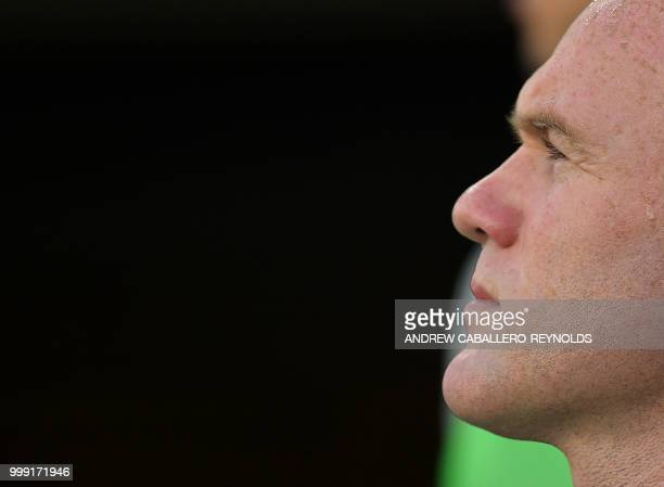 Wayne Rooney of DC United looks on before the DC United vs the Vancouver Whitecaps FC match in Washington DC on July 14 2018