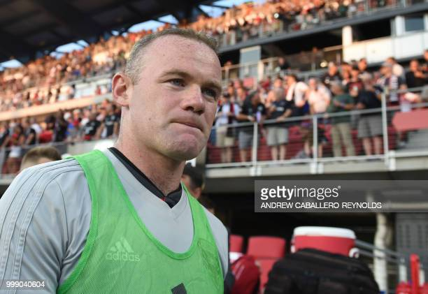 Wayne Rooney of DC United walks past the stands before the DC United against the Vancouver Whitecaps FC match in Washington DC on July 14 2018