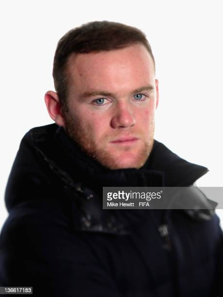 Wayne Rooney of England and Manchester United poses for a portrait prior to the FIFA Ballon d'Or Gala 2011 at the Kongresshaus on January 09 2012 in...