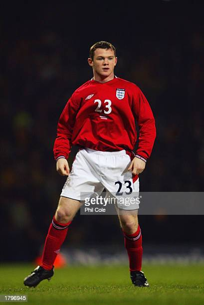 Wayne Rooney of England during the International Friendly match between England and Australia held on February 12 2003 at Upton Park in London...