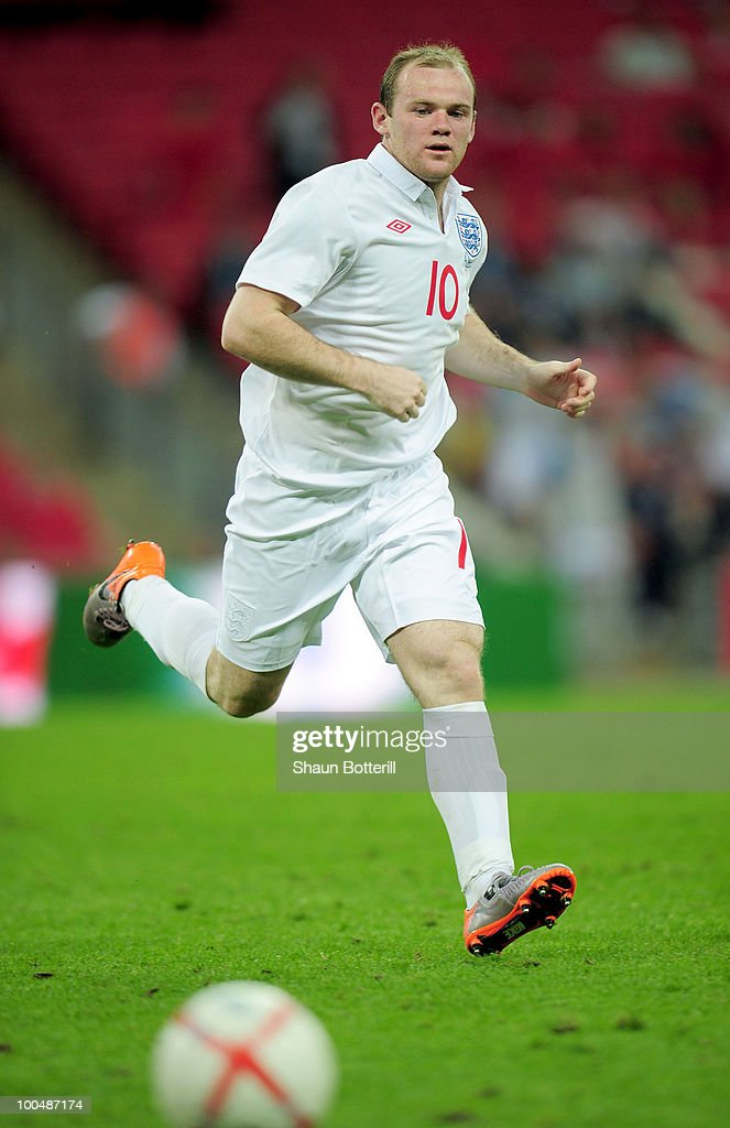 Wayne Rooney of England in action during the International Friendly match between England and Mexico at Wembley Stadium on May 24, 2010 in London, England.