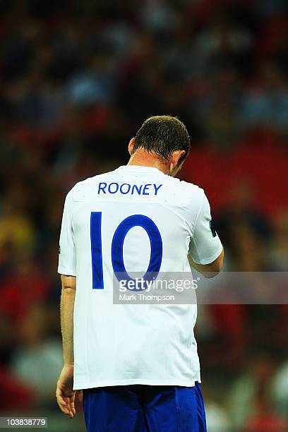 Wayne Rooney of England is seen during the UEFA EURO 2012 Group G Qualifying match between England and Bulgaria at Wembley Stadium on September 3...
